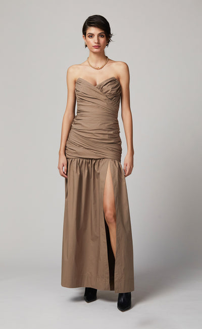 WINSLOWE MIDI DRESS - MOCHA