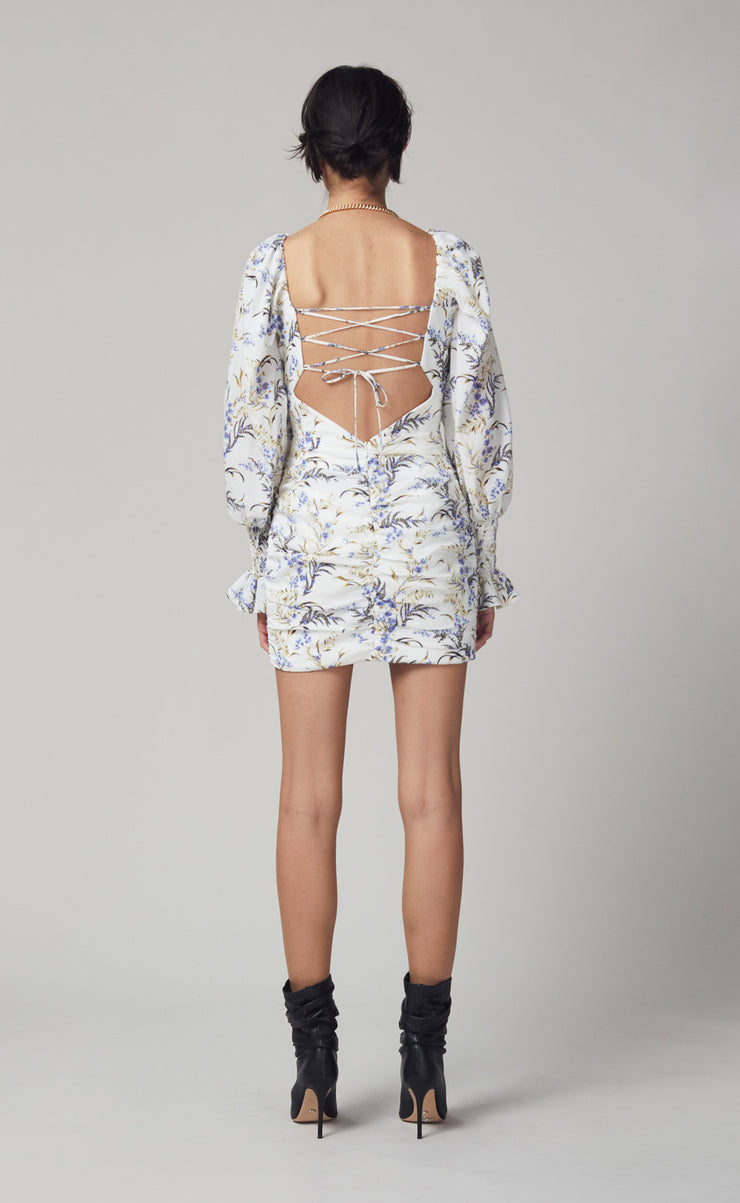 LAVENDER BAY MINI DRESS - PRINT