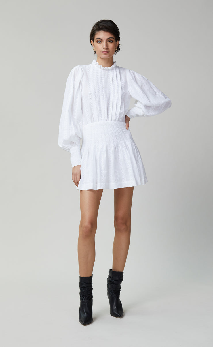 ELODIE MINI DRESS - IVORY