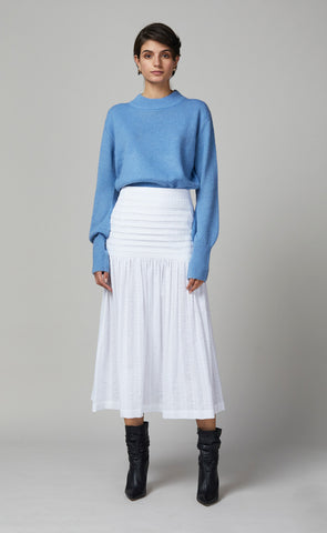 EVA KNIT JUMPER - CORNFLOWER