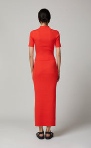 CHICHI KNIT MIDI SKIRT - CHILLI