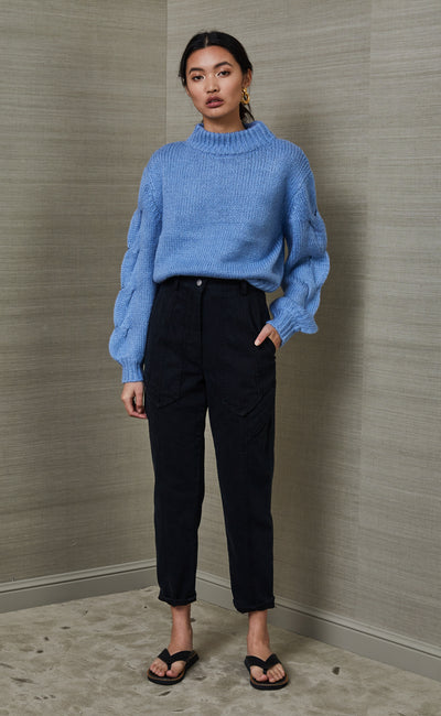 CELESTE KNIT JUMPER - BLUE