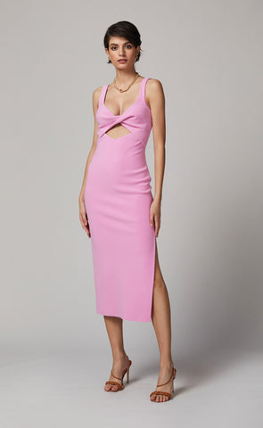 JOELLE MIDI DRESS - BUBBLE GUM