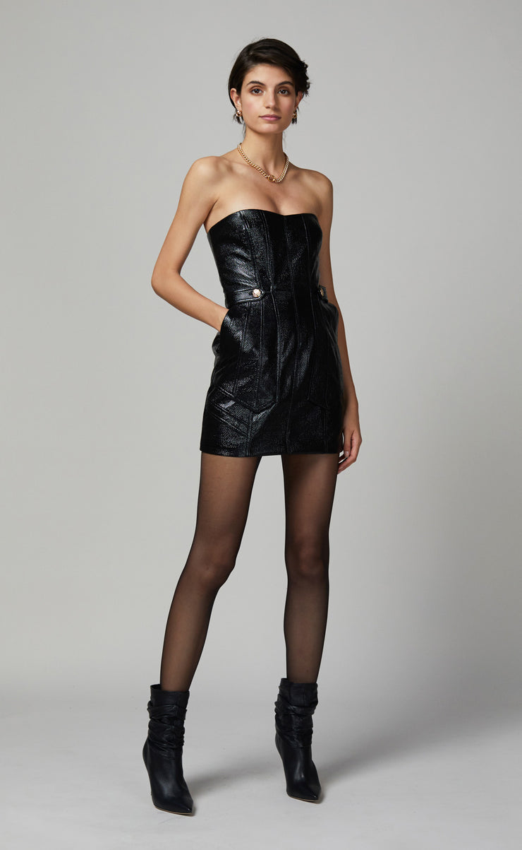 YVETTE MINI DRESS - BLACK