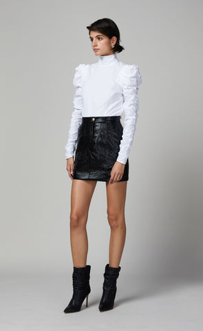 YVETTE MINI SKIRT - BLACK