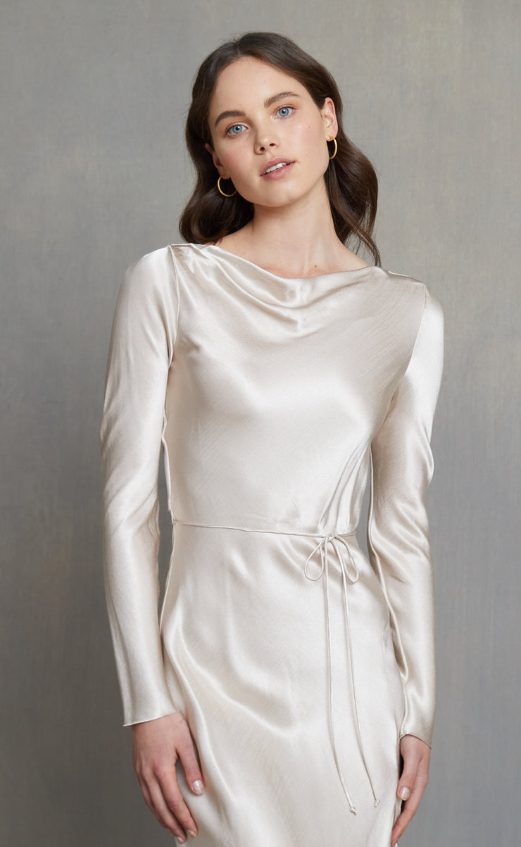 MOON DANCE LONG SLEEVE DRESS - SAND