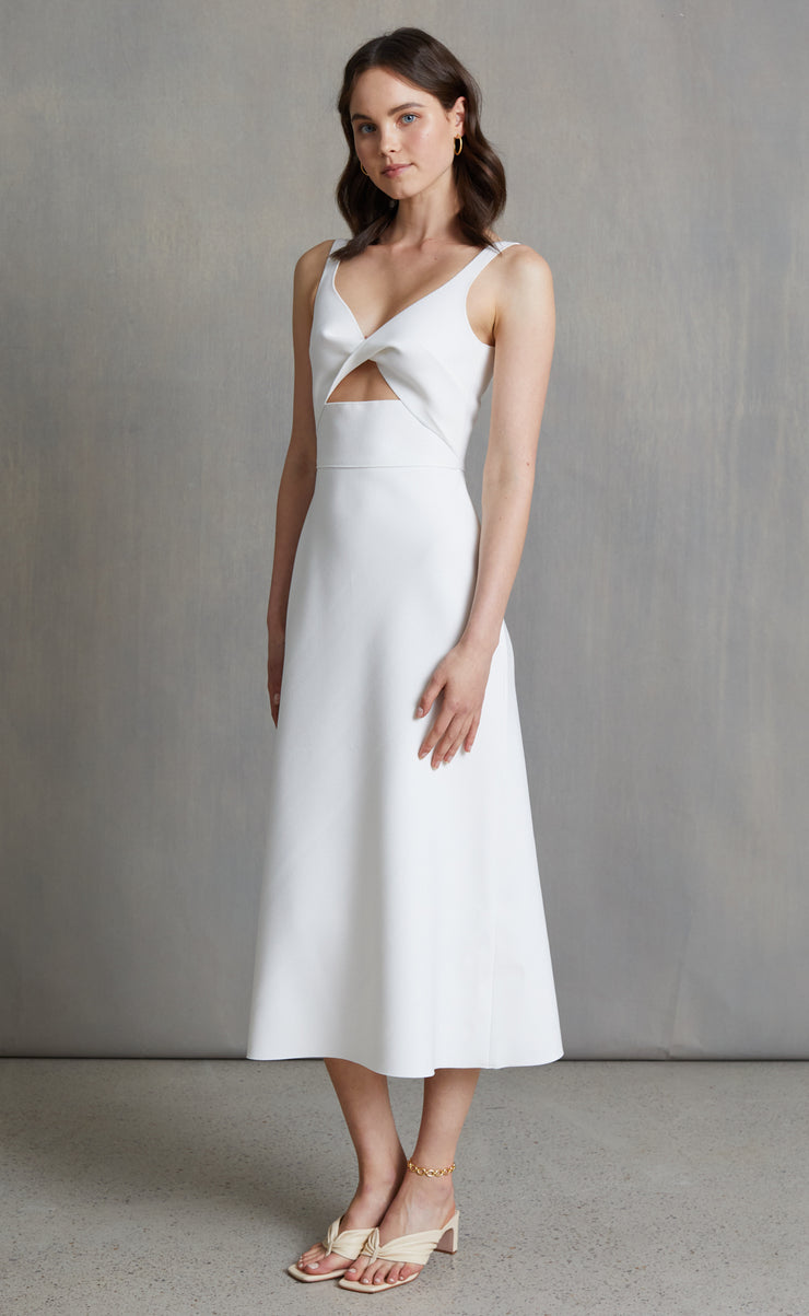 FOREVER YOUNG MIDI DRESS - IVORY
