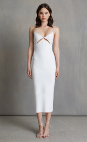 BE MINE CUT OUT MIDI DRESS - IVORY