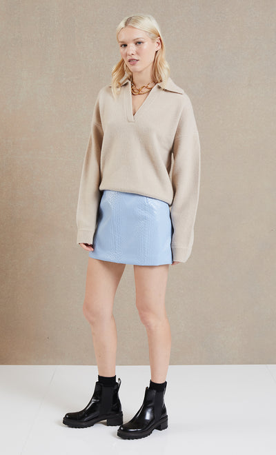 CLOUD NINE MINI SKIRT - GLACIER