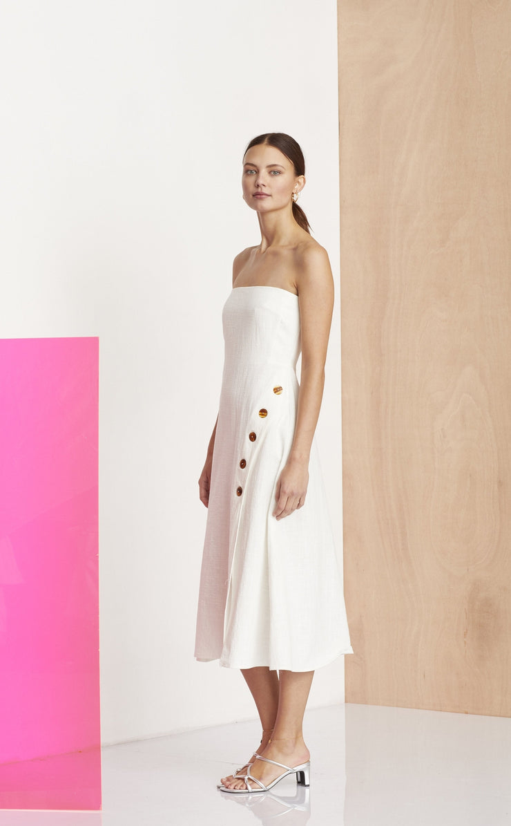 NATHALIE MIDI DRESS - IVORY