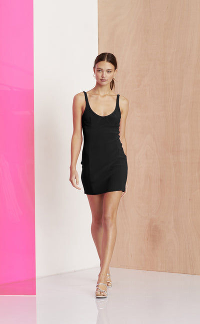 AMELIE MINI DRESS - BLACK