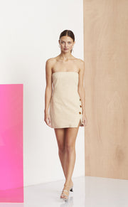 NATHALIE MINI DRESS - NATURAL
