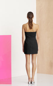 NATHALIE MINI DRESS - BLACK