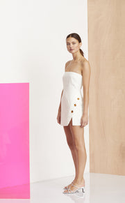 NATHALIE MINI DRESS - IVORY