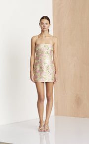 MEET YOU AT THE DISCO DRESS - SILVER JACQUARD