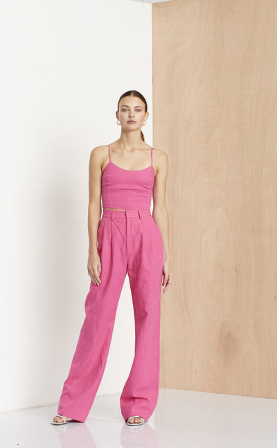 FUCHSIA FUNK TOP - HOT PINK
