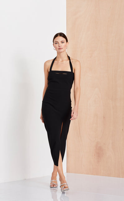 DOMINIQUE CUT OUT DRESS - BLACK