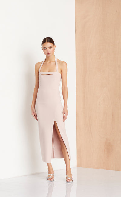 DOMINIQUE CUT OUT DRESS - HIMALAYAN SALT