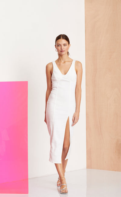 CLE'MENCE DRESS - IVORY