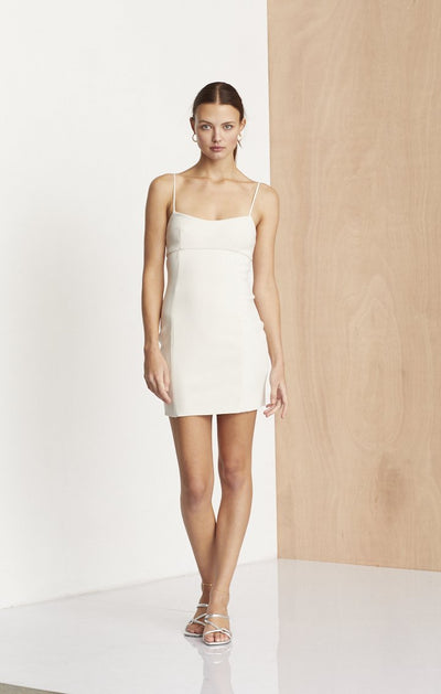 DOMINIQUE MINI DRESS - VANILLA BEAN