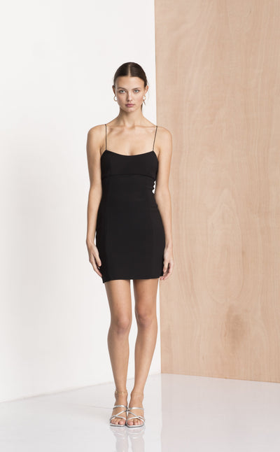 DOMINIQUE MINI DRESS - BLACK