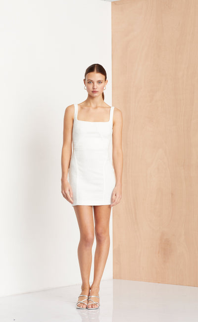 CLE'MENCE MINI DRESS - IVORY