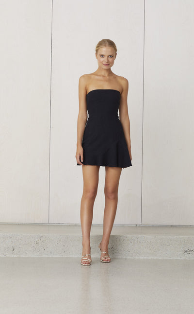 SWEET PEA ASYM DRESS  - BLACK