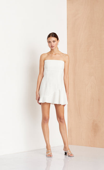 SWEET PEA ASYM DRESS  - IVORY