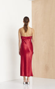 VISION OF LOVE MIDI DRESS - ROUGE