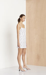 PETITE FLEUR MINI DRESS - IVORY/BLACK