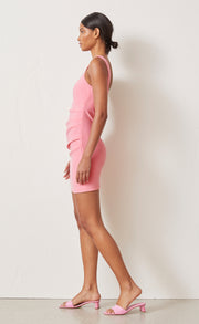 PALOMA MINI DRESS - FLAMINGO