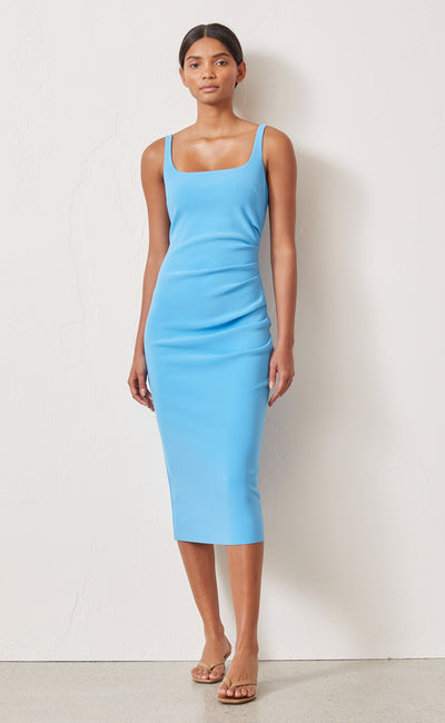 PALOMA MIDI DRESS - AZURE