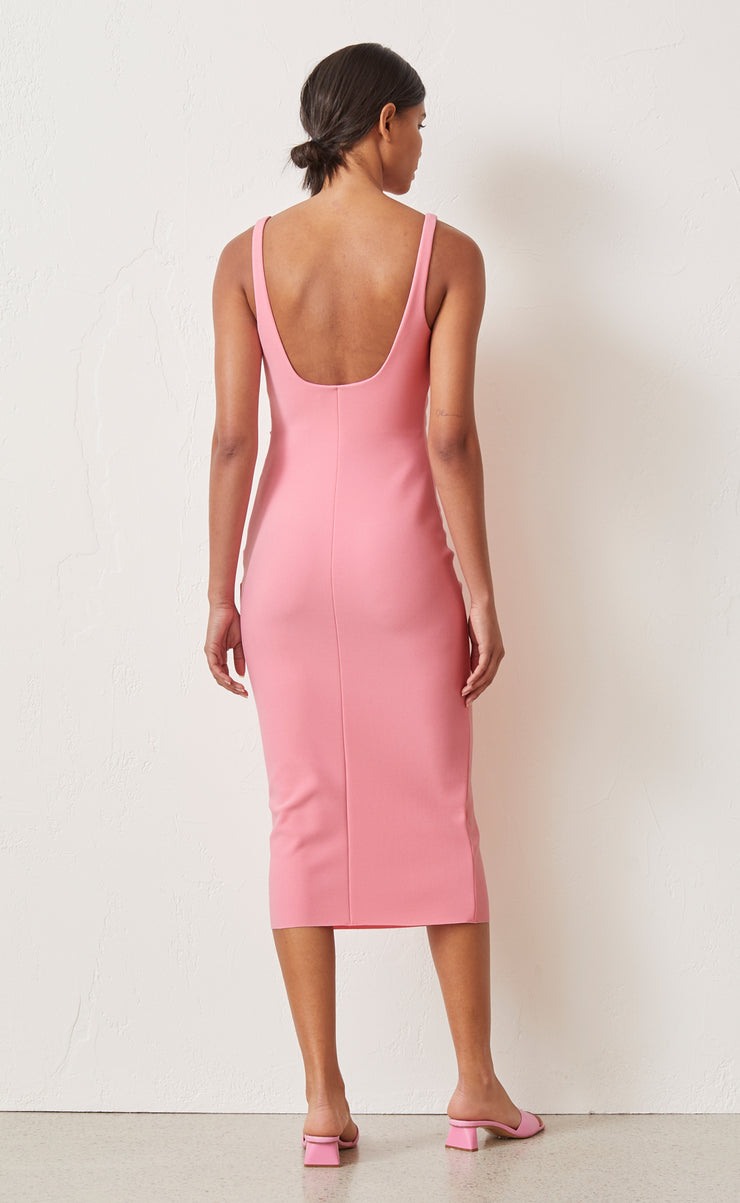 PALOMA MIDI DRESS - FLAMINGO