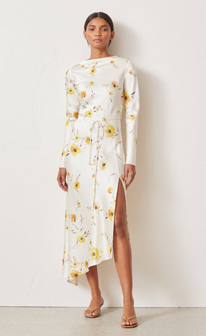 COLETTE LONG SLEEVE MIDI DRESS - PRINT