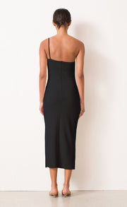RAPHAELA MIDI DRESS - BLACK