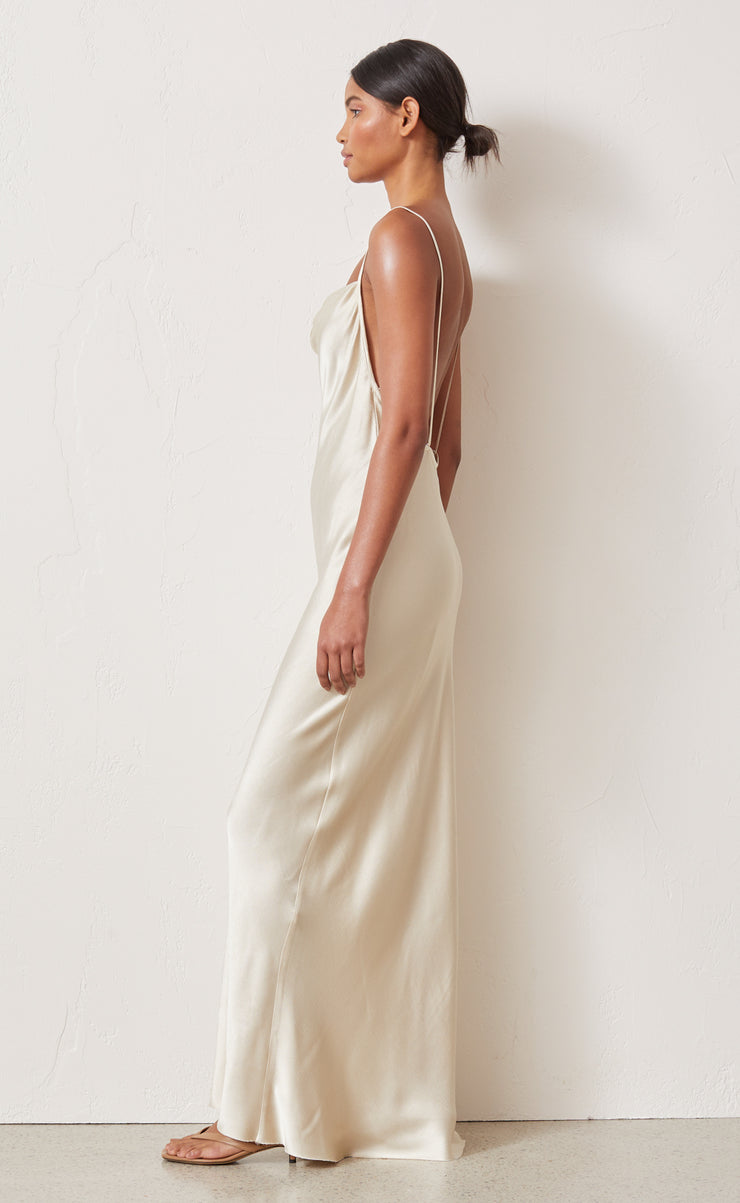 FREDERIC MIDI DRESS - OYSTER