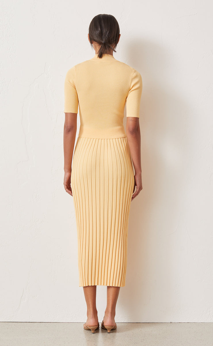 CITRUS CLUB KNIT MIDI SKIRT - MELON