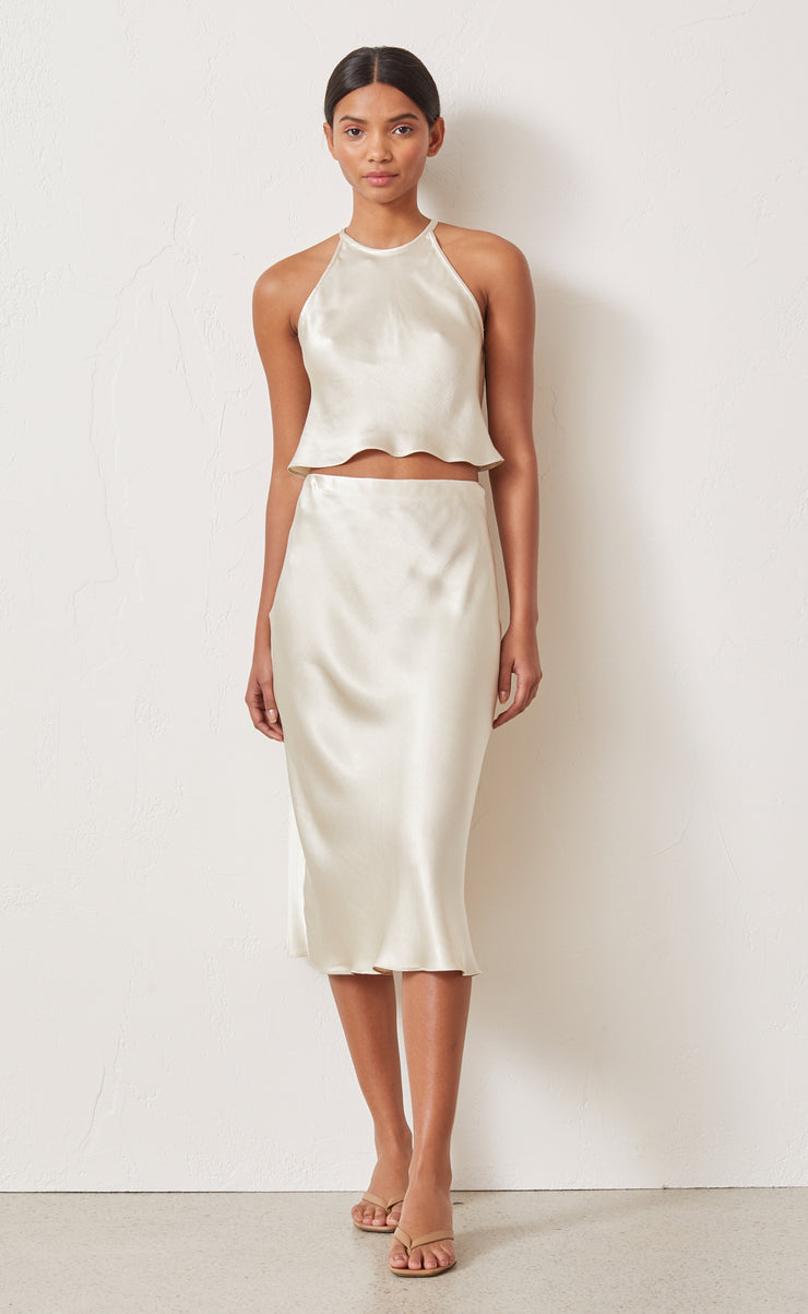 FREDERIC MIDI SKIRT - OYSTER