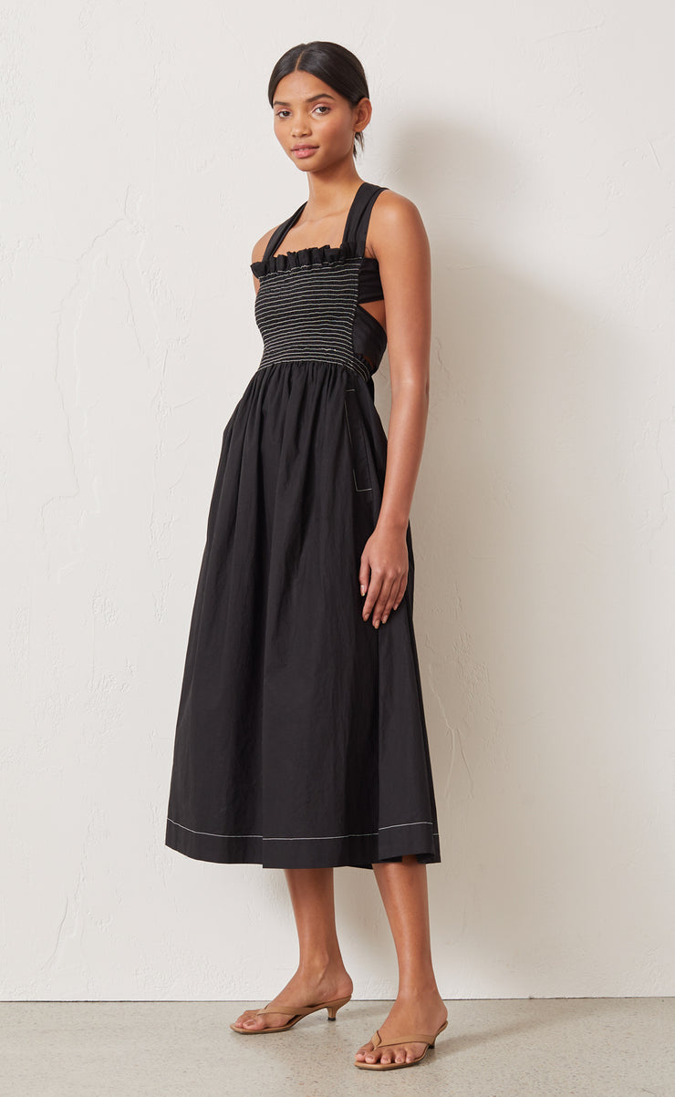 NIKOLINA MIDI DRESS - BLACK