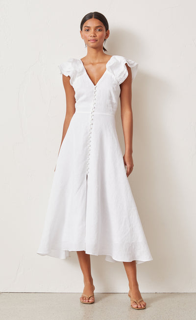 LA FONTELINA MIDI DRESS - WHITE