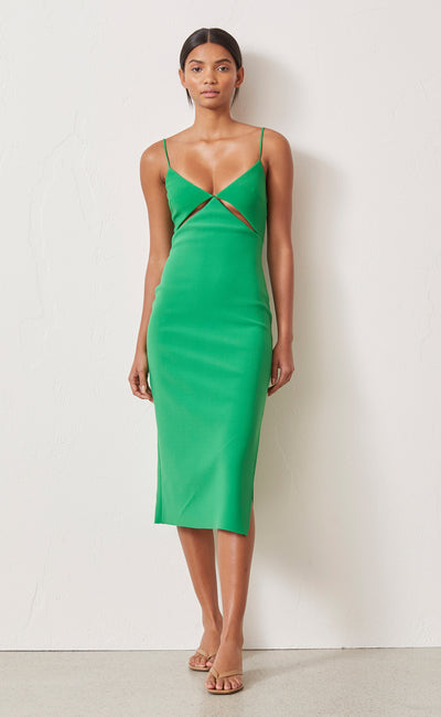 EMERALD AVENUE MIDI DRESS - EMERALD
