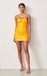 CITRUS CITY MINI DRESS - TANGERINE