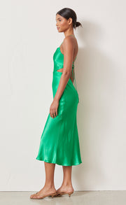 LOREN CUT OUT MIDI DRESS - EMERALD