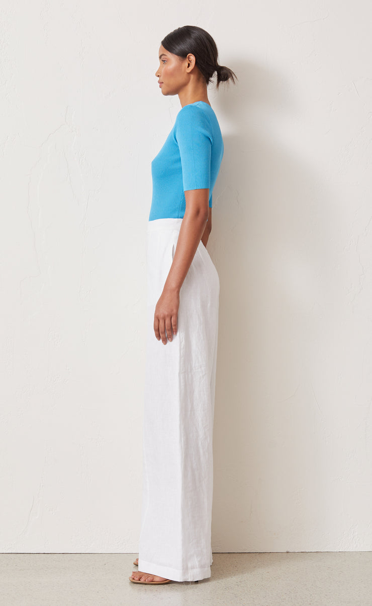 ASTRID KNIT TEE - AZURE