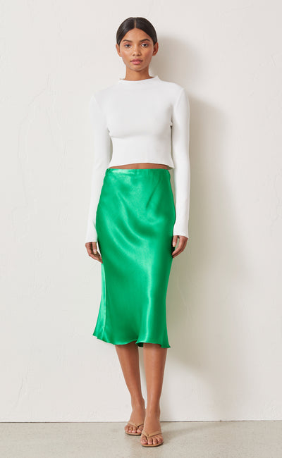 LOREN MIDI SKIRT - EMERALD