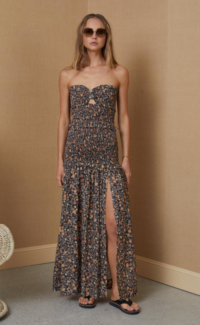 JANICE COTTON MAXI DRESS - PRINT