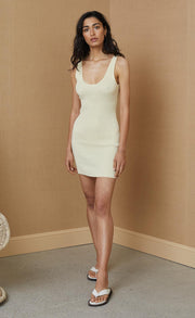 MIMI KNIT MINI DRESS - BUTTER
