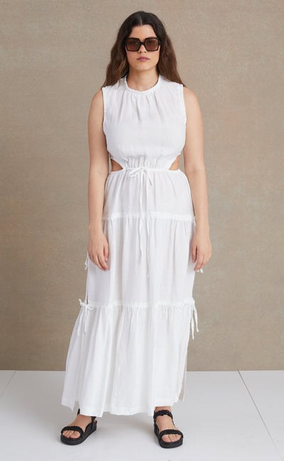 HENRIETTE MAXI DRESS - IVORY