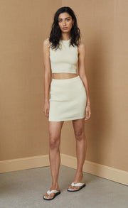 MIMI KNIT MINI SKIRT - BUTTER