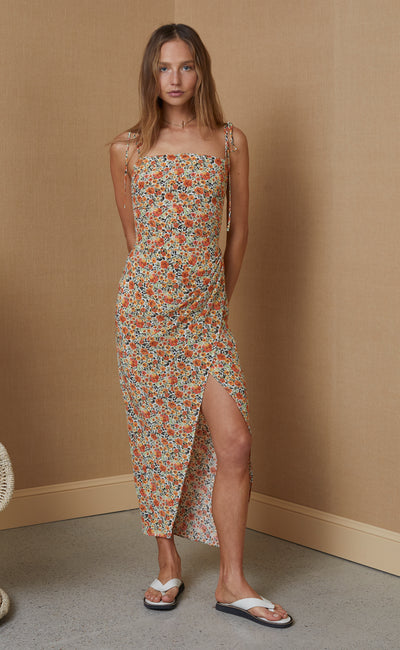 WILD POPPIES MIDI DRESS - PRINT